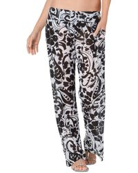 Anne Cole - Antigua Mesh Pant W/pocket - Lyst