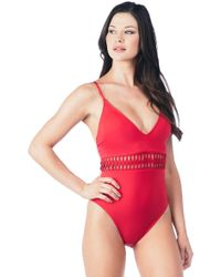 ba0639bf179 Women's Kenneth Cole Monokinis and one-piece swimsuits On Sale - Lyst