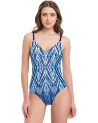 Gottex - Java Over The Shoulder One Piece Swimsuit - Lyst