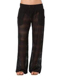 Anne Cole - Color Blast Lace Crochet Pocket Pant Cover Up Swimsuit - Lyst