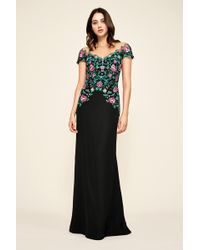 Tadashi Shoji - Holly Floral Embroidered Gown - Lyst
