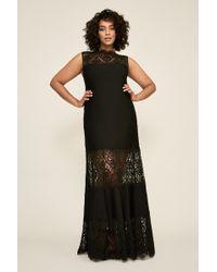 Tadashi Shoji - Pintuck Jersey Boatneck Gown - Plus Size - Lyst
