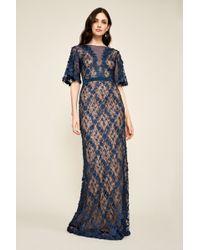 Tadashi Shoji - Coriander Embroidered Tulle Gown - Lyst