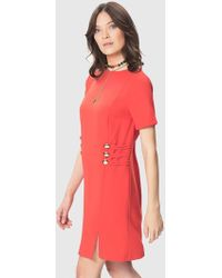Roman - Button Front Shift Dress - Lyst