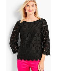 Talbots - Hexagon Lace Top - Lyst