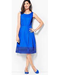 Talbots - Sateen Fit & Flare Dress - Lyst