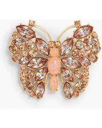 Talbots - Crystal Butterfly Brooch - Lyst