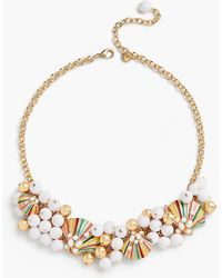 Talbots - Shell Statement Necklace - Lyst