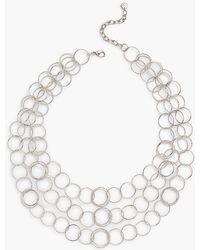 Talbots - Interlock Hoop Necklace - Lyst