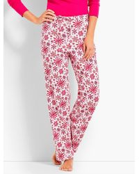 Talbots - Watercolor Snowflake Sleep Pant - Lyst