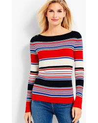 Talbots - Stripe Bateau-neck Sweater - Lyst