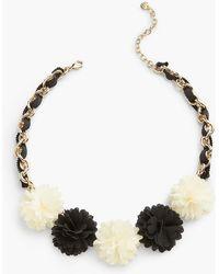 Talbots - Fabric Flower Statement Necklace - Lyst