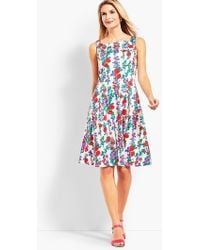 Talbots - Trellis Floral Fit-and-flare Dress - Lyst