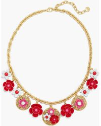 Talbots - Floral Cluster Statement Necklace - Lyst