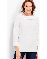Talbots - Portrait-collar Shirt - Lyst