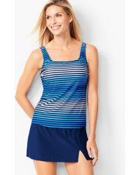 874e92fc39df9 Lyst - Talbots Chloe Tiered Tankini Top-miraclesuit® in Black