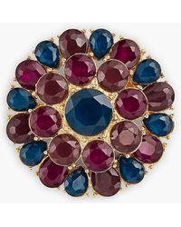 Talbots - Rsvp - Colorful Crystal Brooch - Lyst
