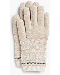 Talbots - Reindeer Fair Isle Gloves - Lyst