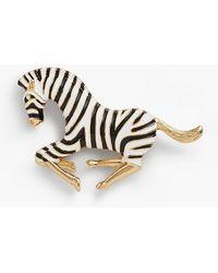 Talbots - Galloping Zebra Brooch - Lyst
