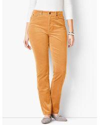 Talbots - High-rise Straight-leg Pant - Curvy Fit/cord - Lyst
