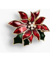 Talbots - Holiday Brooch Collection - Poinsettia - Lyst
