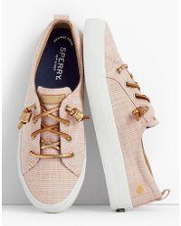 Talbots - Crest Vibe Sperry® Sneakers - Metallic - Lyst