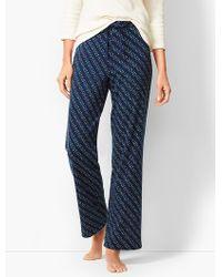 Talbots - Drawcord Pyjama Trousers - Holiday Lights - Lyst