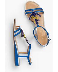 Talbots - Daisy Mini-wedge Sandal With Anchor Embellishment - Lyst