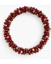 Talbots - Faceted Bead Stretch Bracelet - Lyst