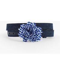 Talbots - Cotton Denim Flower Belt - Lyst