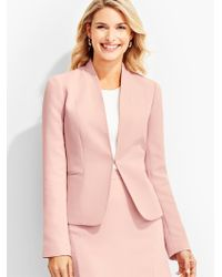 Talbots - Refined Crepe Stand V-neck Jacket - Lyst