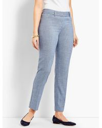 Talbots - Hampshire Ankle Pant - Curvy Fit/chambray - Lyst