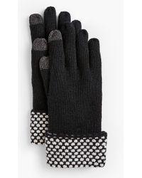 Talbots - Textured-cuff Touch Gloves - Lyst