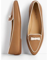 Talbots - Francesca Piped Bow-detail Flats - Lyst