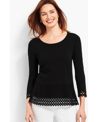 Talbots - Flounced Crewneck With Back Bow - Lyst