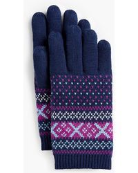 Talbots - Fair Isle Winter Touch Gloves - Lyst