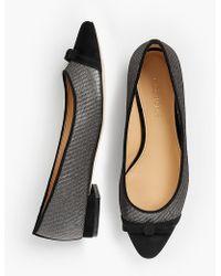 Talbots - Edison Bow-detail Flats - Lurex® - Lyst