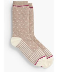Talbots - Stripes & Dots Blocked Trouser Sock - Lyst