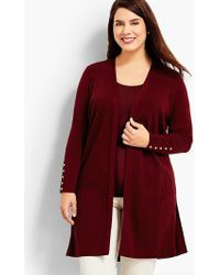 Talbots | Womans Exclusive Ribbed Duster Cardigan | Lyst