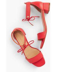 1f787fb2d374 Talbots Pila Kitten-heel Sandals - Metallic Nappa Leather in ...