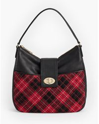 Talbots - Quilted Greenwich Plaid Hobo Bag - Lyst