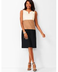 Talbots - Colorblock Textured Sheath Dress - Lyst