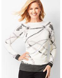 Talbots - Merino Jewel-print Sweater - Lyst