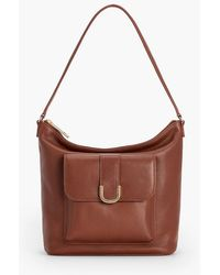 Talbots - Soft Pebble Leather Hobo Bag - Lyst