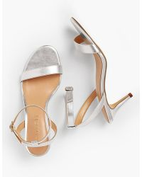 Talbots - Rosalie Sandals-metallic Nappa Leather - Lyst