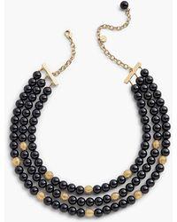 Talbots - Three-strand Glass Necklace - Lyst