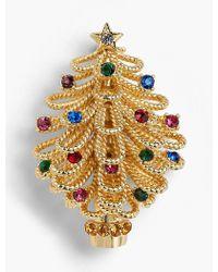 Talbots - Holiday Tree Brooch - Lyst