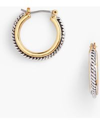 Talbots Textured Hoop Earrings