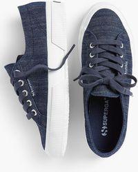 Talbots - Superga® Sneakers - Denim - Lyst