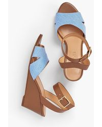 Talbots - Vivian Wedge Sandals - Cotton - Lyst